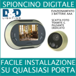 Spioncino digitale a betterie