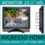 Monitor Lcd TFT 10 pollici