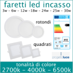 Faretto led incasso