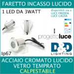 Faretto incasso Led 3w