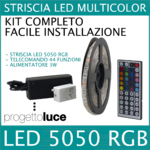 kit striscia led rgb 5050