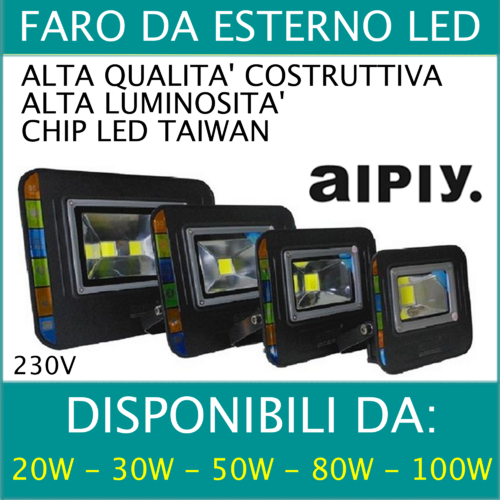FARO LED ALTA LUMINOSITA' AIPIY
