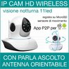 TELECAMERA IP 720P HD CAMERA CAM WIRELESS P2P