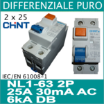 Chint differenziale puro 2 x 24A