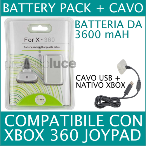JOYPAD 360 WIRELESS + CAVO CARICATORE
