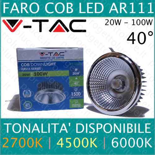 Faretto AR111 led V-tac