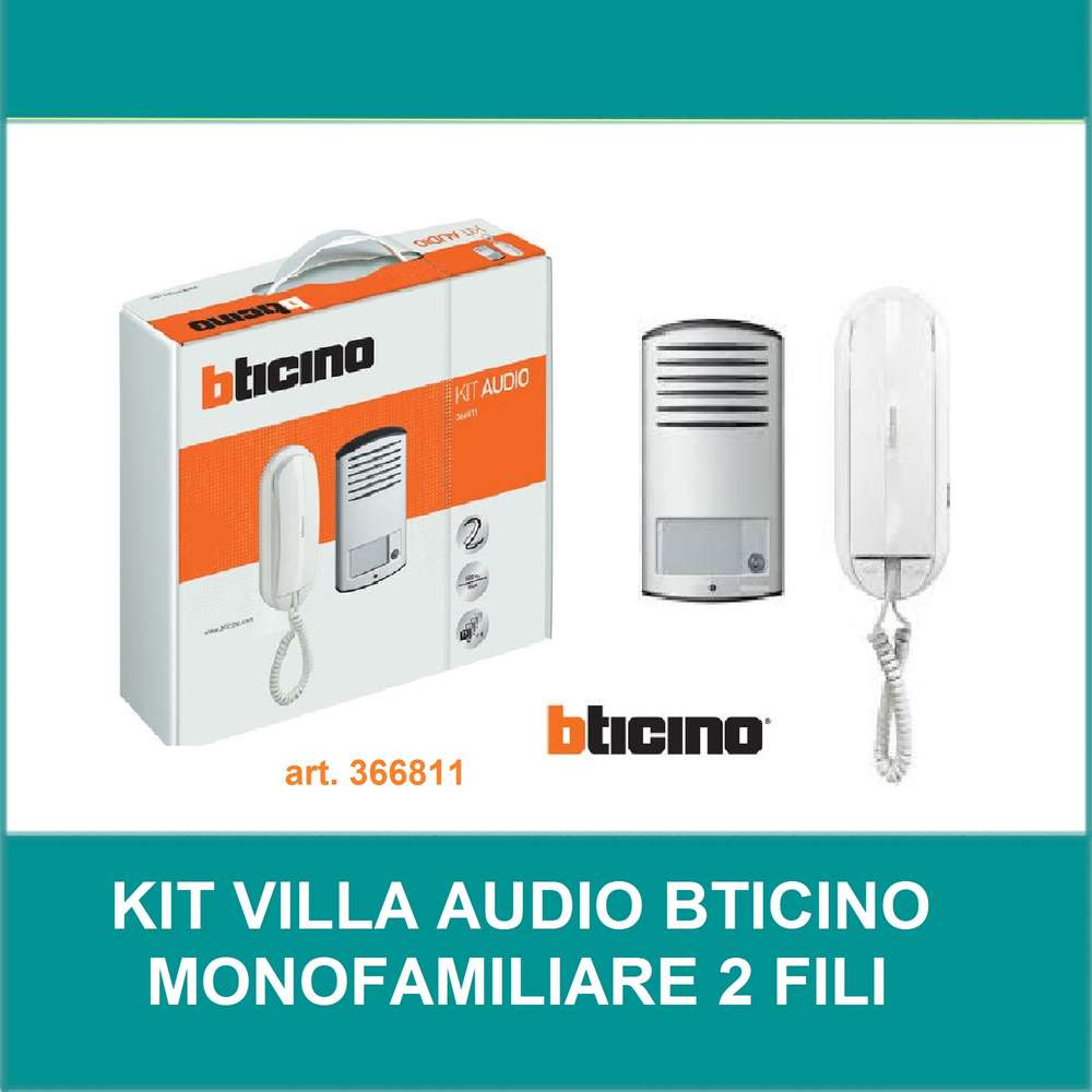 Impianti Citofonici A Due Fili.Kit Citofono Audio Mono 2 Fili 366811 Bticino Dilightings It