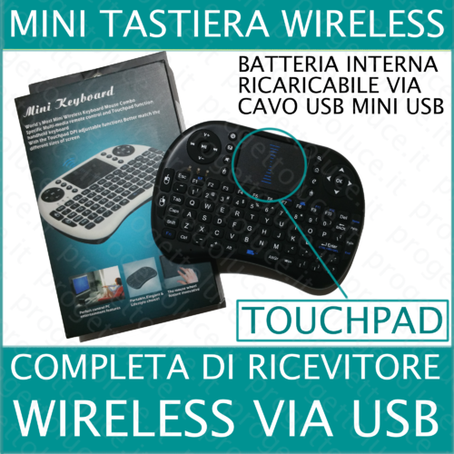 Mini Tastiera WIRELESS WIFI USB