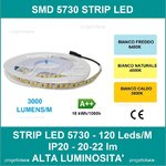 STRISCIA LED V-TAC 5MT 5730 18W/M IP20