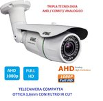 TELECAMERA FULL HD 3,6MM 3Mpx AHD 1080P