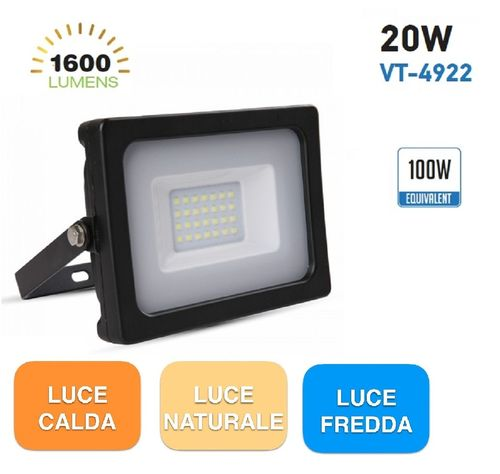 FARO LED 20W SLIM VT4922 NERO