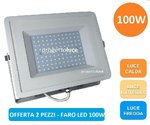 FARETTO LED SMD 100W SLIM DA ESTERNO IP65